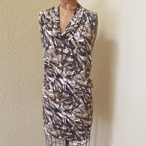 MICHAEL KORS GEOMETRIC PRINT DRESS SIZE S